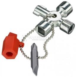Заказать Ключ для электрошкафов 44 мм KNIPEX KN-001102 отпроизводителя KNIPEX
