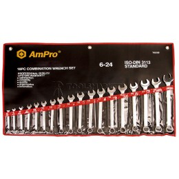 Набор ключей комбинированных 14 предметов 8-24 мм AmPro T40185