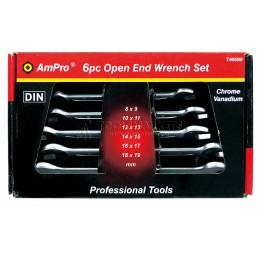 Набор ключей рожковых 6 предметов 8-19 мм AmPro T40590