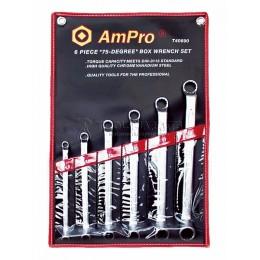 Набор ключей накидных 6 предметов 8-19 мм AmPro T40690