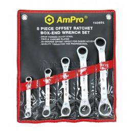 Набор трещоточных ключей 6-22 мм 5 предметов AmPro T40891