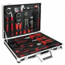 Набор инструментов для электрика 48 предметов в алюминиевом кейсе AmPro T45911