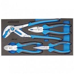 Набор шарнирно-губцевого инструмента в СТ-ложементе 4 предмета 1500 CT1-142 GEDORE 2309025