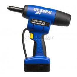Заказать Заклёпочник Powerbird Pro Gold Edition аккумуляторный для вытяжной заклепки GESIPA 7300002 отпроизводителя GESIPA