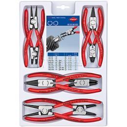 Набор щипцов для стопорных колец 8 предметов KNIPEX KN-002004V01