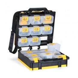 Кейс-органайзер двусторонний со сменными 15 модулями для хранения мелких деталей К-01 КВТ 76805