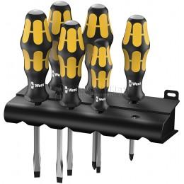Набор отверток SL PZ Kraftform 932/918/6 отвертка-резец + подставка WERA WE-018287