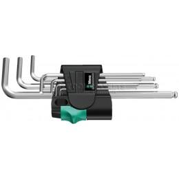 Набор Г-образных ключей метрических хромированных 950 PKL/7 SM N 7 предметов WERA WE-022181