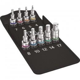 Набор отверточных головок Zyklop 8740 C HF, для внутреннего шестигранника, с функцией фиксации 9 предметов WERA WE-004201