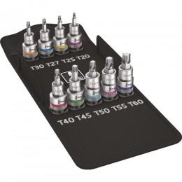 Набор отверточных головок Zyklop TORX® 8767 C TORX® HF, с функцией фиксации 9 предметов WERA WE-004202
