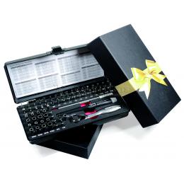 """Набор бит и торцевых головок """"Рождественское подарочное издание"""" 65 предметов WIHA WH-40669"""