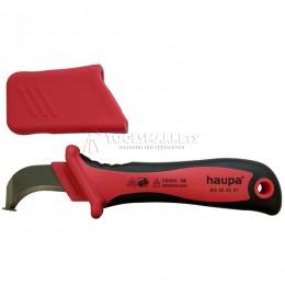 Нож для снятия изоляции с пяткой VDE 50 мм HAUPA 200007