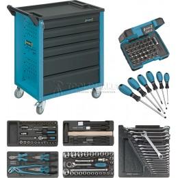 Заказать Тележка инструментальная 6 ящиков серая с набором инструментов 130 предметов HAZET 177-6/130 отпроизводителя HAZET