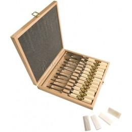 Haбop cтaмecoк для cкульптopa в деревянной коробке 12 предметов KIRSCHEN KR-3154000