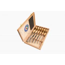Набор стамесок с рукоятками из граба в деревянном футляре 6 предметов 1101 НК KIRSCHEN KR-1101000