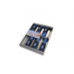 Заказать Набор стамесок с двухкомпонентными рукоятками в картонной коробке 6 предметов 1118 SB KIRSCHEN KR-1118000 отпроизводителя KIRSCHEN