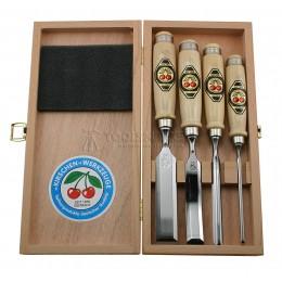 Заказать Набор стамесок в деревянном футляре 4 предмета 1190 KIRSCHEN KR-1190000 отпроизводителя KIRSCHEN