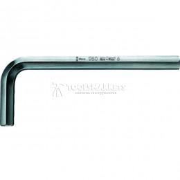 Г-образный шестигранный ключ 12 мм, метрический, хромированный 950 WERA WE-021075