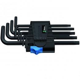 Набор Г-образных шестигранных ключей с фиксирующей функцией 9 предметов BlackLaser 967 L/9 TORX® HF WERA WE-024244