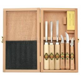 Заказать Набор инструментов для резьбы по дереву в деревянной коробке 7 предметов KIRSCHEN KR-3437000 отпроизводителя KIRSCHEN