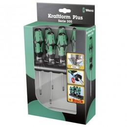 Заказать Набор отверток Kraftform Plus Lasertip + подставка 334/355/6 Rack 6 предметов WERA WE-105656 отпроизводителя WERA