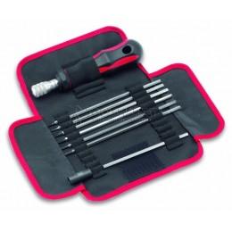 Набор динамометрическая отвертка со сменными хромированными жалами 6 предметов и магнитным держателем бит CIMCO 11 4802