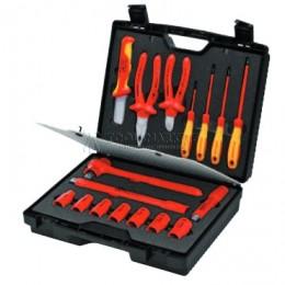Чемодан компактный с инструментами электроизолированными 17 предметов VDE KNIPEX KN-989911