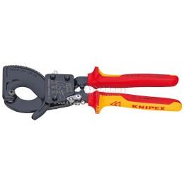 Кабелерез трещеточный VDE до 52 мм, 280 мм KNIPEX KN-9536280