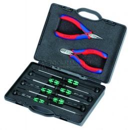 Набор инструментов для электроники 8 предметов KNIPEX KN-002018