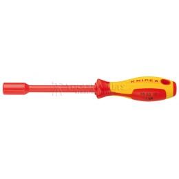 Ключ гаечный торцовый с отверточной ручкой 7 мм VDE KNIPEX KN-980307