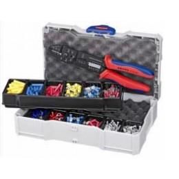 Набор кабельных наконечников с инструментом для опрессовки, для кабельных наконечников KNIPEX KN-979025