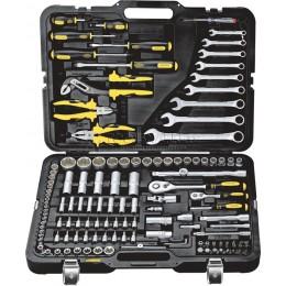 """Универсальный набор инструментов 128 предметов 1/2"""" - 1/4"""" BERGER BG128-1214"""