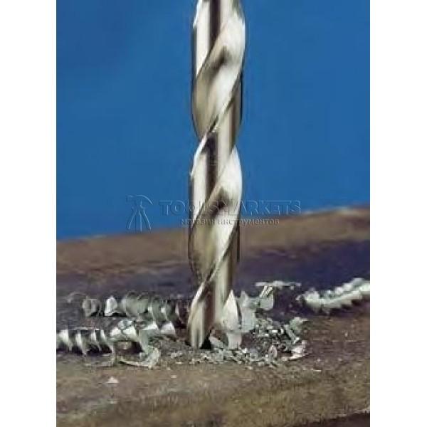 Набор сверл спиральных по металлу, HSS-G Co5 1-10мм 19 предметов EXACT GQ-32005
