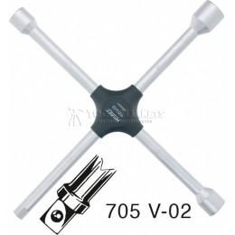 """Заказать Ключ баллонный крестовой 17х19х22х1/2"""" Hazet 705V-02 отпроизводителя HAZET"""