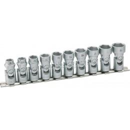 Набор торцевых шестигранных ключей с шарниром 10 предметов HAZET 880G/10H