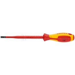 Тонкая отвертка для винтов с шлицевой головкой KNIPEX KN-982065SL