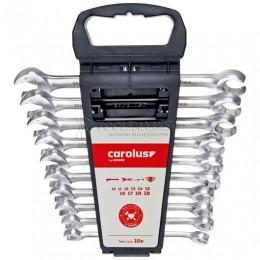 Набор ключей рожковых с трещоткой 10 предметов 0590.0010 CAROLUS 2978156