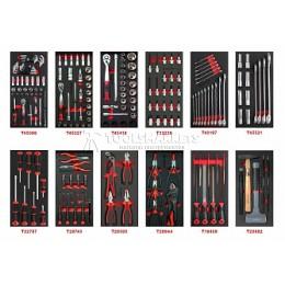 Наборы инструментов 216 предметов в мягких ложементах 12 ложементов AmPro T47313-02