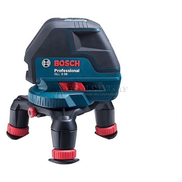 Лазерный нивелир Bosch GLL 3-50 + LR 2 Professional (0 601 063 803)
