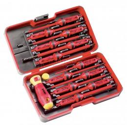 """Набор сменных насадок с рукояткой VDE """"E-SMART Box"""" 14 предметов серия 063 FELO 063 913 06"""