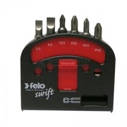 """Набор бит """"felo Swift"""" С6,3х25, 6 предметов+магнитный держатель, серия 020, FELO 020 601 16"""