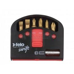 """Заказать Набор бит """"felo Swift"""" С6,3х25, 6 предметов+магнитный держатель, серия 020 TIN, FELO 020 601 76 отпроизводителя FELO"""