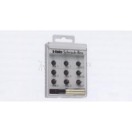Набор бит С6,3х25, 9 предметов+магнитный держатель, серия 020, FELO 020 995 06