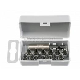 Набор бит С6,3х25,12 предметов+магнитный держатель, серия 022, FELO 022 910 16