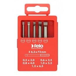 Набор бит Е6,3х73, 5 предметов, серия 030, FELO 030 917 16