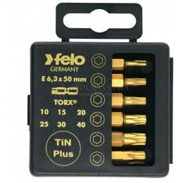 Набор бит TORX, 6 предметов серия 036 TIN plus, FELO 036 915 76