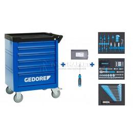 Заказать Инструментальная тележка с набором инструмента 172 предметов WSL-M-TS-172 GEDORE 3100197 отпроизводителя GEDORE
