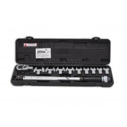 """Заказать Ключ динамометрический с набором рожковых насадок 13-30, 1/2"""" 40-200 Nm, HANS 4673 отпроизводителя HANS"""