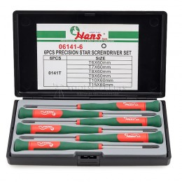 Заказать Набор отверток для точной механики TORX HANS 06141-6 отпроизводителя HANS