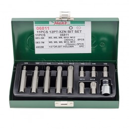 Набор бит XZN в кейсе 11 предметов HANS 06811